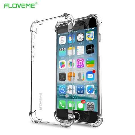 Silicone Soft Softcase Anti Samsung S8 S8 Plus floveme anti knock phone cases for samsung s8 s8 plus s7 s6 edge iphone 6 6s plus 7 5s cover