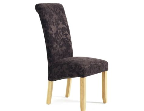 Aubergine Dining Chairs Haycroft Aubergine Floral And Oak Dining Chairs Frances Hunt