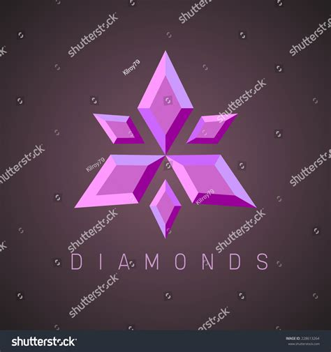 ruby template ruby gems logo template stock vector 228613264