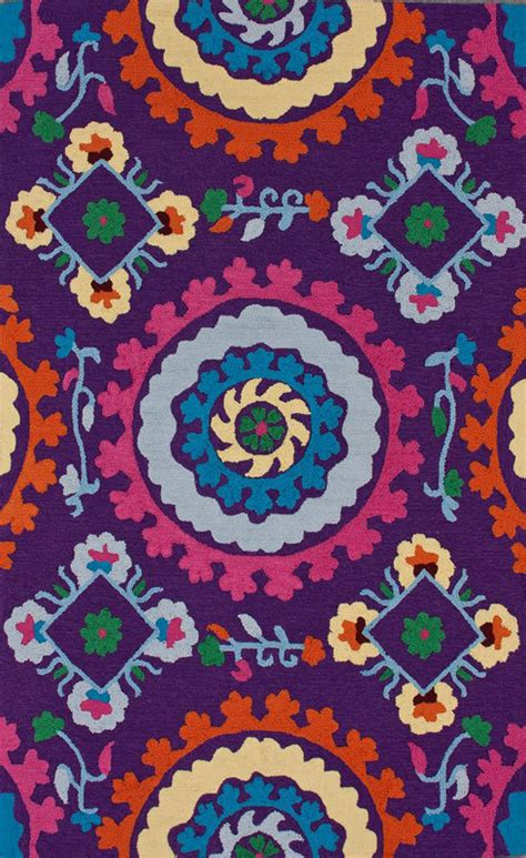 whimsical rug district17 soraya whimsical rug in purple patterned rugs