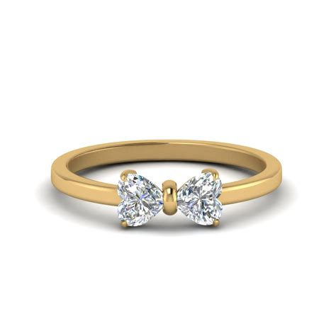 2 shaped bow ring in 14k yellow gold
