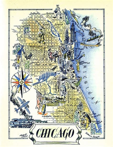 vintage chicago map vintage chicago map my home town chicago is