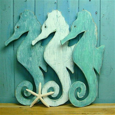 Seahorse Decorations by Seahorse Sign Wall House Decor By By Castawayshall