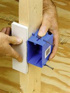 installing an electrical box in framing how to install electrical cable boxes home