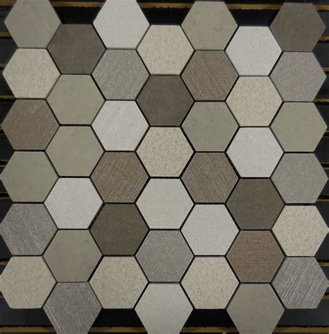 mosaic hexagon pattern pth6016 porcelain mosaic earth 2 hexagon glass tile and