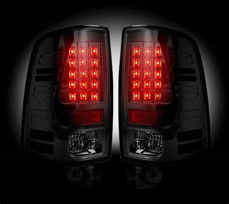 ram 1500 led tail lights recon smoked led tail lights 2013 17 dodge ram 1500 2500