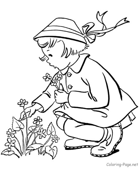 spring coloring books coloring pages