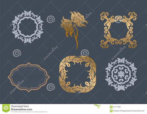calligraphic design elements and page decoration vector set vector set stock vector image 61111028