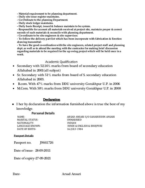 Sle Resume For Store Keeper Store Keeper Resume