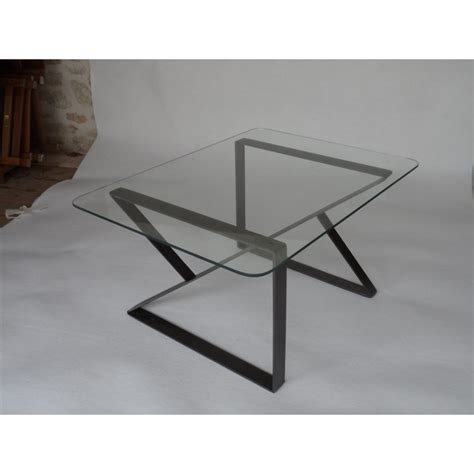 Table Basse Verre Metal by Table Basse En Verre Et M 233 Tal Par Clf Creation Un Coq