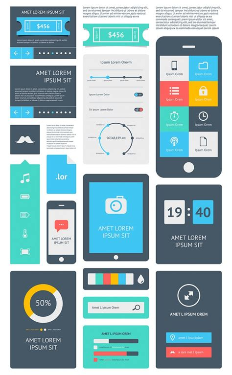 interface design template 15 premium flat ui design templates boost your production