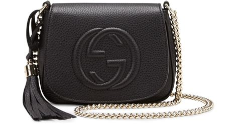 Chain Crossbody Bag lyst gucci soho leather chain crossbody bag in black