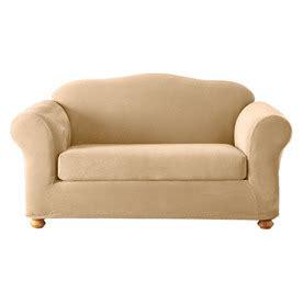 cream velvet sofa shop stretch pique cream velvet sofa slipcover at lowes com