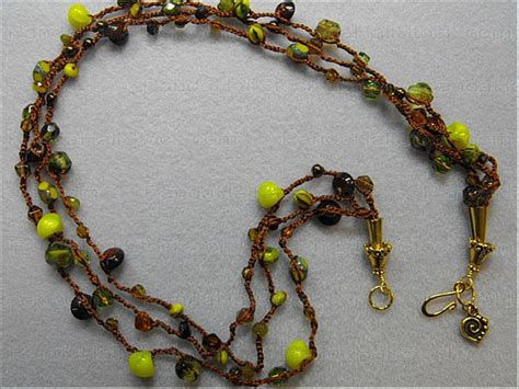 crochet bead necklace how to crochet beaded necklaces nbeads