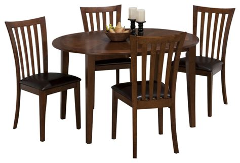 jofran bowser birch 42 inch casual to oval table w