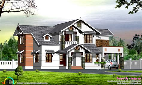 house design dormer windows dormer window modern sloping roof house kerala home