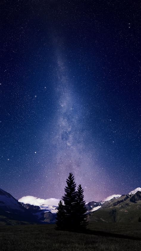 wallpaper swiss alps night sky milky  hd space