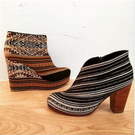 tribal pattern boots shoes wedges booties boots embroidered tribal pattern