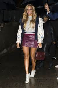 beyonce in leather mini skirt 08 gotceleb