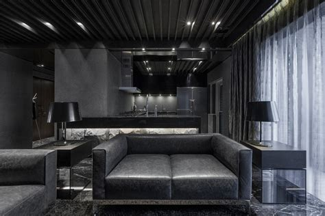 Black Modern Room Architecture Awesome Bedroom In Black Design With Black