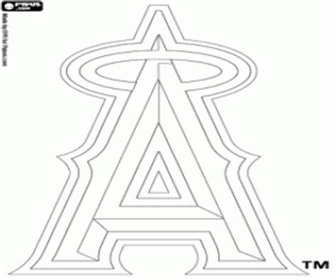 angels baseball coloring page mlb logos coloring pages printable games 2