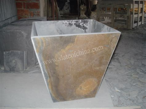 Granite Planters Suppliers by Slate Flower Pot Vase Factory China Slate Flower Pot Vase