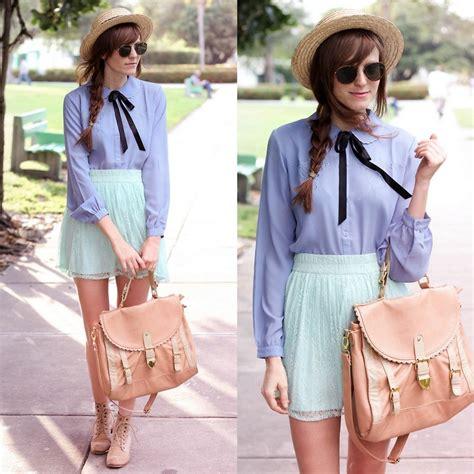 steffy degreff vintage blouse pastel my lookbook