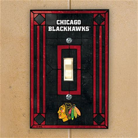 chicago blackhawks glass table l chicago blackhawks nhl glass single light switch plate