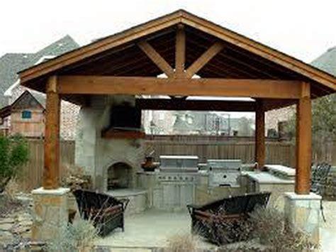 Outdoor : Patio Covers Rustic Outdoor Kitchen Designs