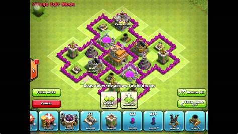 layout coc th6 hybrid clash of clans th6 hybrid base 2015 youtube