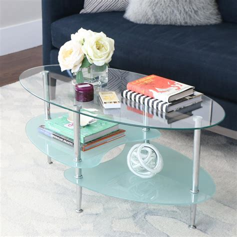 walker edison coffee table walker edison furniture company wave silver storage coffee