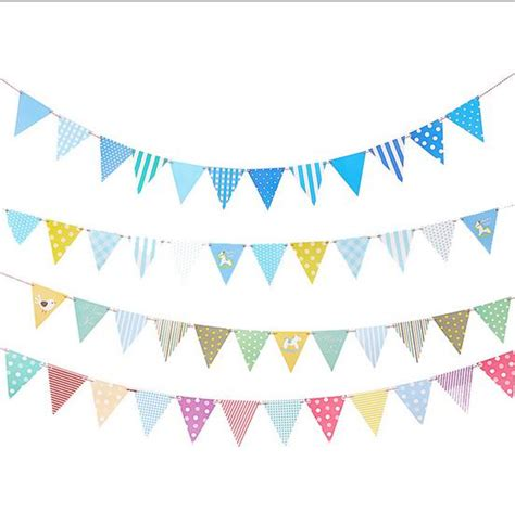 Bunting Flag Diy Banner Baby Shower Banner Bridal Shower Banner Req ctrue 1set 12flags diy paper flag baby birthday bunting decoration boy baby shower favor