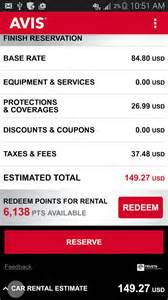 Avis Car Rental Android App Avis Car Rental Android Apps On Play