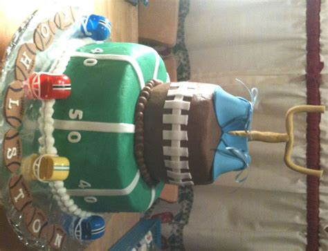 Baby Shower Football Theme by Baby Shower Cake Football Theme Cakecentral