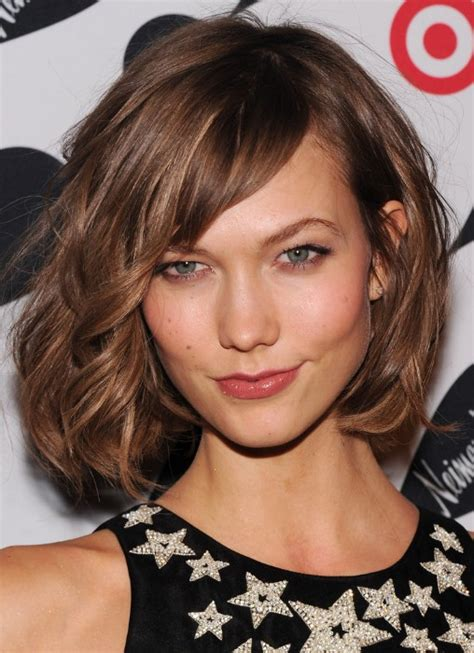 mussy bob cuts for pictures karlie kloss wild soft curly mussy bob hairstyle with long