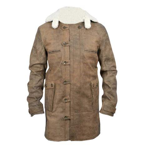 Cowhide Jackets by New Bane Coat Distressed Brown Genuine Cowhide Leather