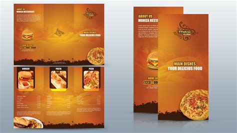 tutorial leaflet design create a tri fold restaurant brochure photoshop tutorial