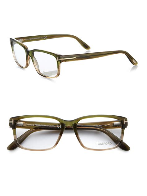 tom ford 5313 square optical frames in green for lyst