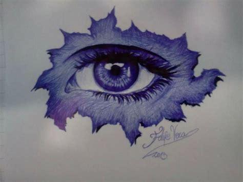 imagenes de ojos abstractos quot el ojo quot l 225 piz pasta azul y negro sobre papel blanco