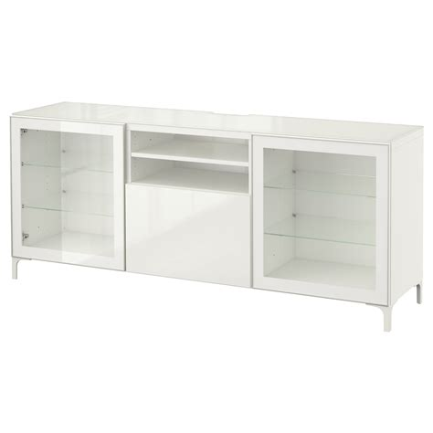 tv bench white gloss best 197 tv bench white selsviken high gloss white clear glass 180x40x74 cm ikea