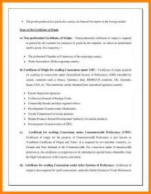 Letter Certificate Of Origin 8 Declaration Of Origin Addressing Letter