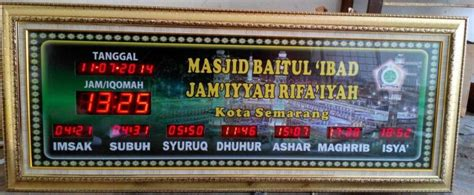 Jam Digital Sholat Murah 111 pusat jam digital masjid jadwal sholat abadi