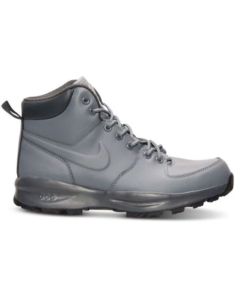 nike s manoa leather boots from finish line in gray
