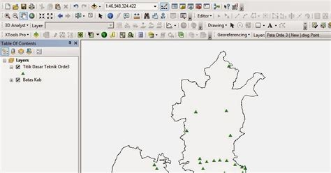tutorial pemetaan arcgis menilkan koordinat titik di arcgis 10 air itu mengalir