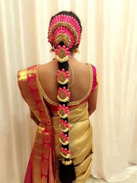 bridal hairstyles traditional 1000 images about jadai alankaram ideas on pinterest