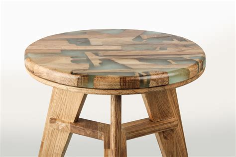 Stool Design by Unique Stool Design Utilizes Offcut Wood Combined With
