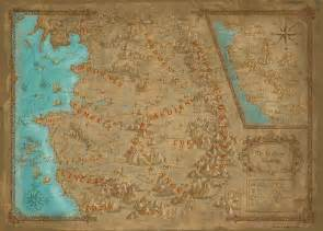 The Witcher World Map by The World Map For The Witcher 3 Wild Hunt Is A Rather