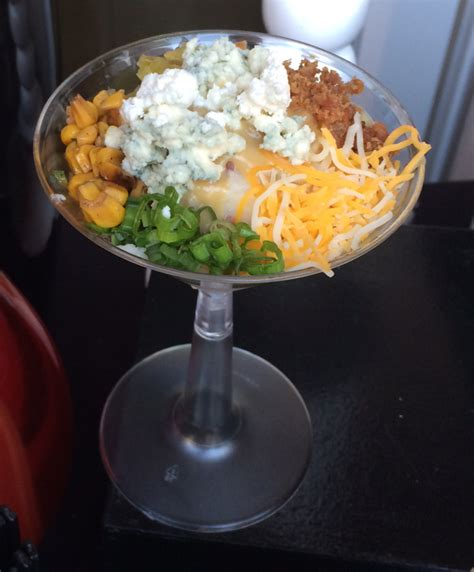 mashed potato martini bar toppings a philanthropic kick off tgis catering tgis catering