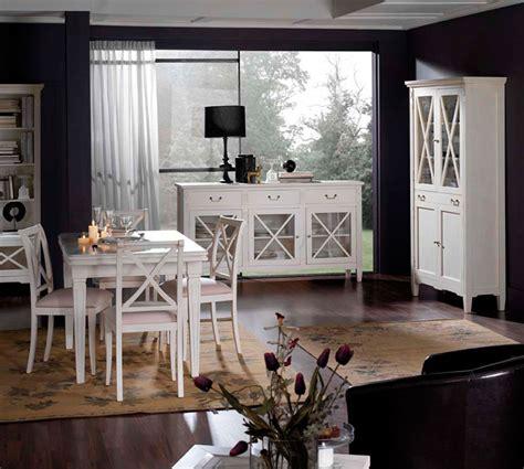 muebles salon comedor estilo frances en blanco artesania