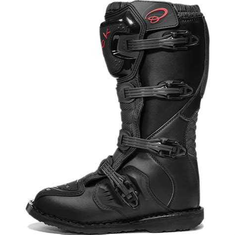 Black Mx Enigma Ce Approved Motocross Boots Road
